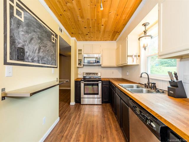 Sold West Asheville Mt Carmel Estates wood countertop