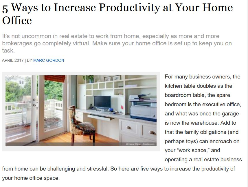 AddThis Sharing Buttons Share to FacebookShare to TwitterShare to LinkedInShare to Google+Share to PinterestShare to EmailShare to PrintShare to Favorites -A A +A 5 Ways to Increase Productivity at Your Home Office