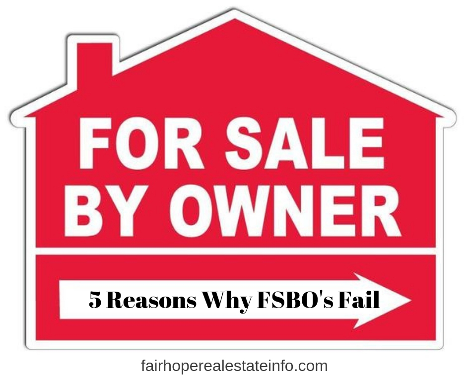 5 Reasons Why FSBO's Fail
