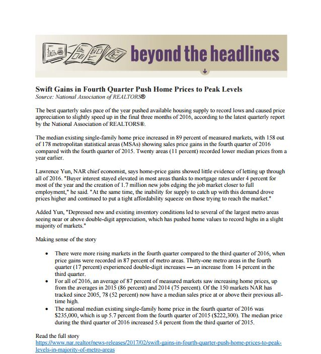 Beyond the Headlines- California Association of REALTORS (021017)