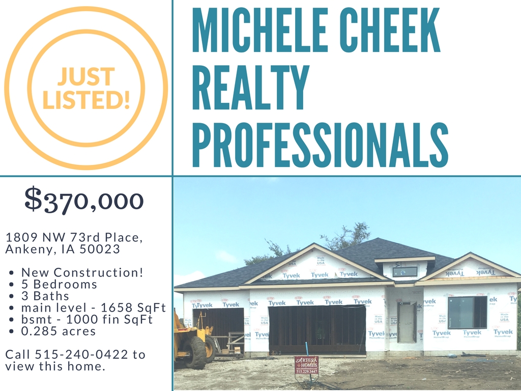 JUST LISTED: 1809 NW 73rd Pl, Ankeny, IA 50023