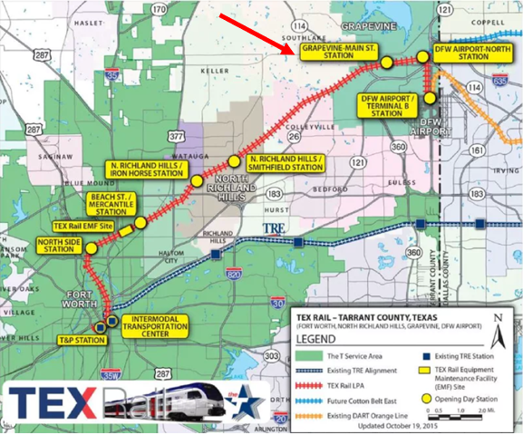 New 27 Mile Commuter Railway Between DFW & Fort Worth!