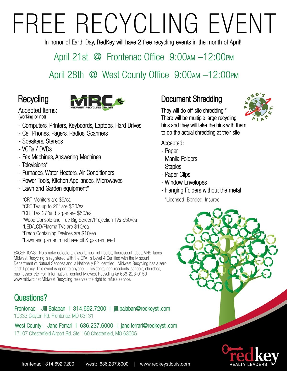 Recycling Event April 2018