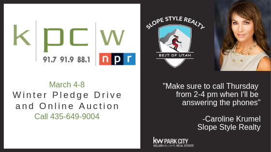 Our Local News Radio, KPCW, Pledge Drive is Today!