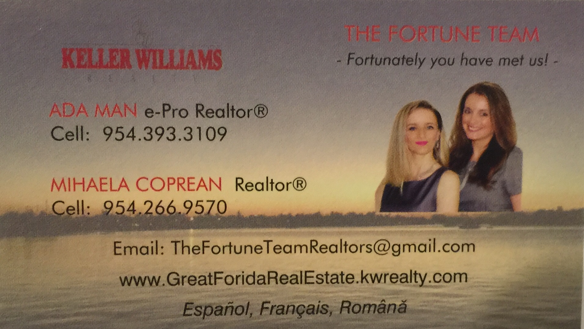 Ada Man & Mihaela Coprean The Fortune Team Realtors
