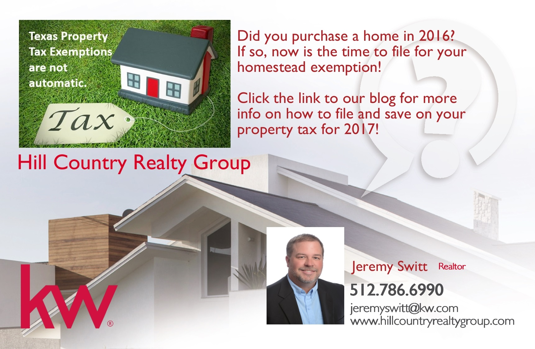 File for your Homestead Exemption now to save!