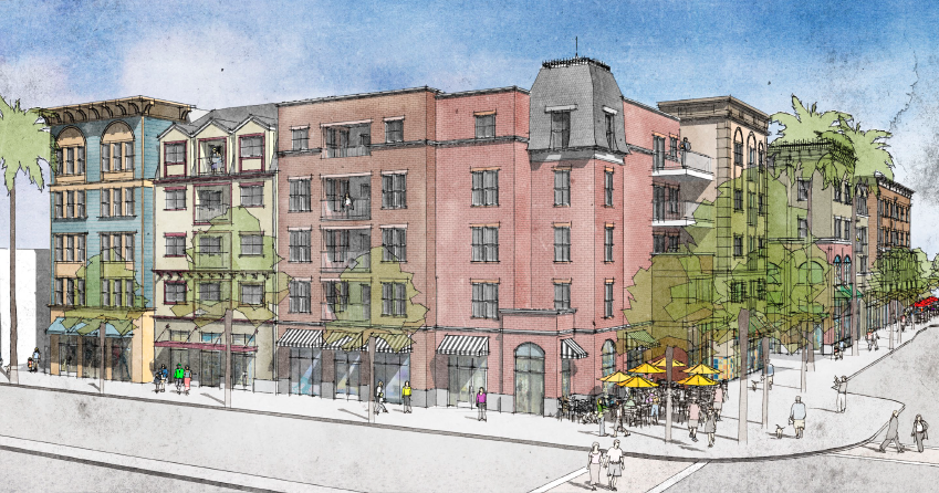 Artists renderings for old town newhall build-out