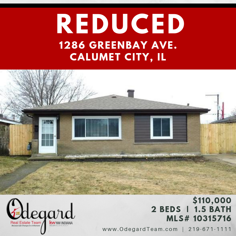 REDUCED 1286 Greenbay Ave Calumet City IL