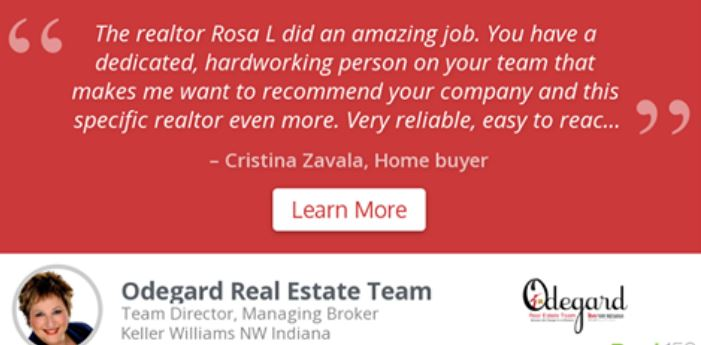 Cristina Zavala Testimonial Of The Odegard Team
