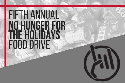 Fifth Annual No Hunger For The Holidays Food Drive