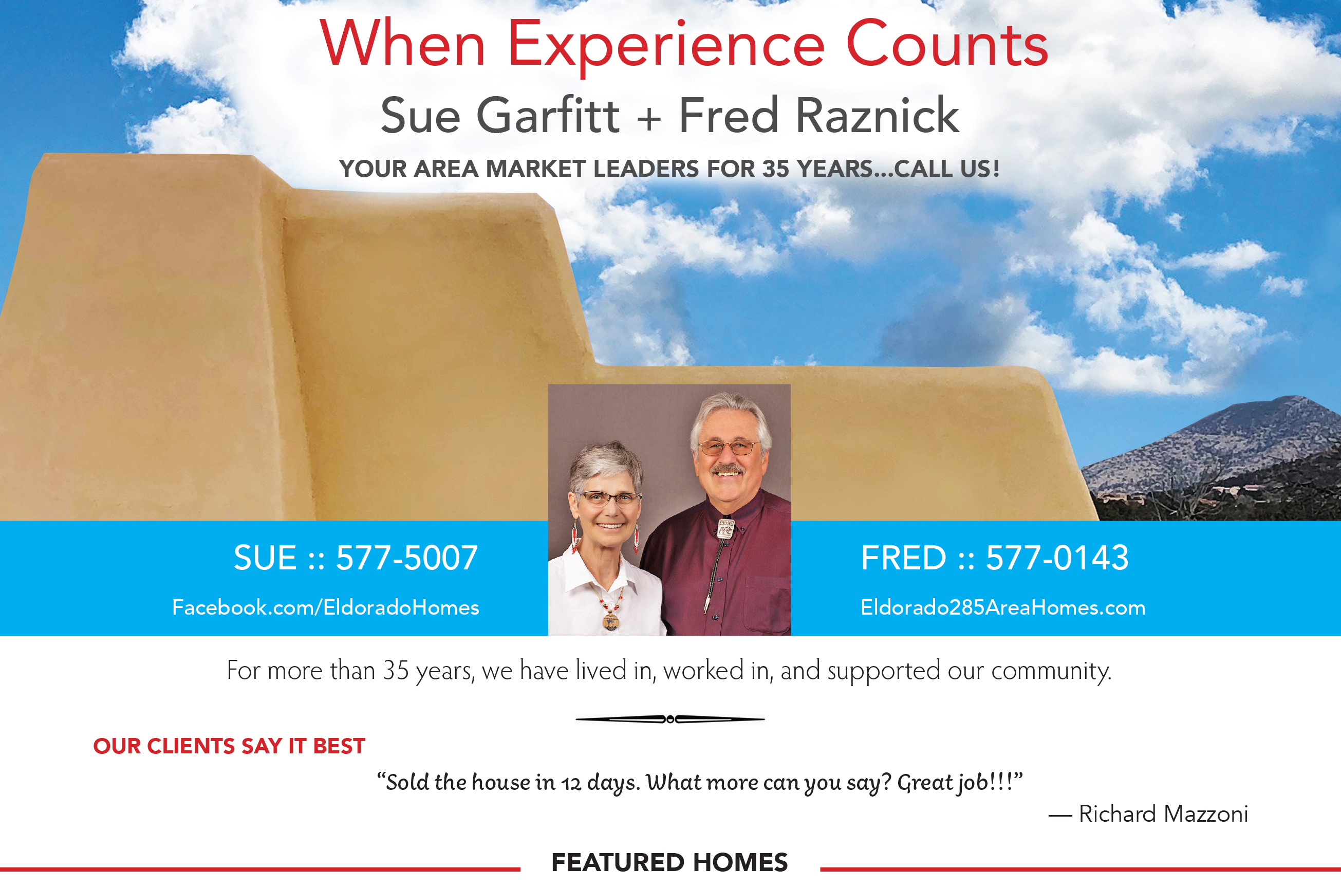 Did you see our ad in the September issue of Eldorado Living?