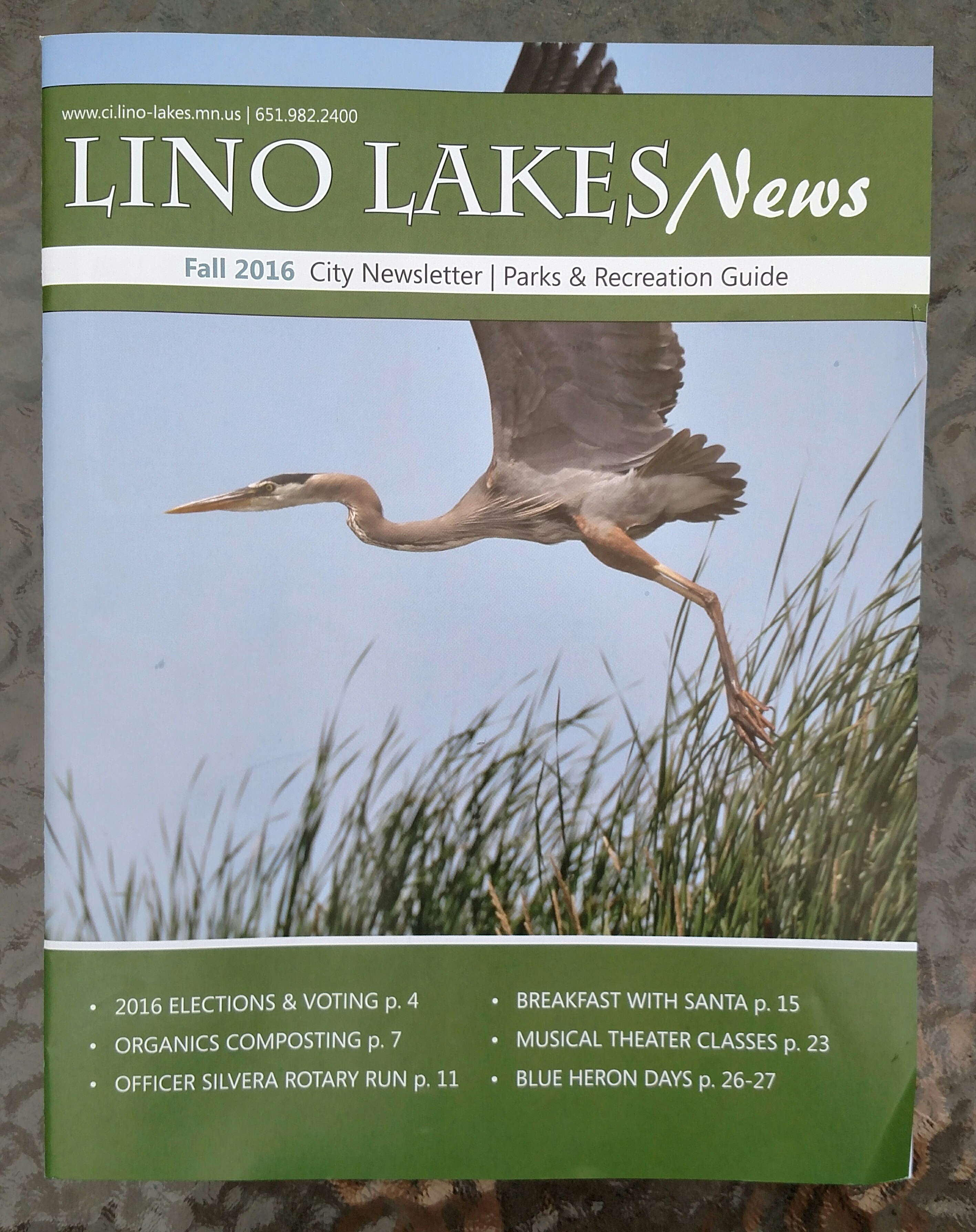 Lino Lakes News Fall 2016 – City Newsletter | Parks & Recreation Guide