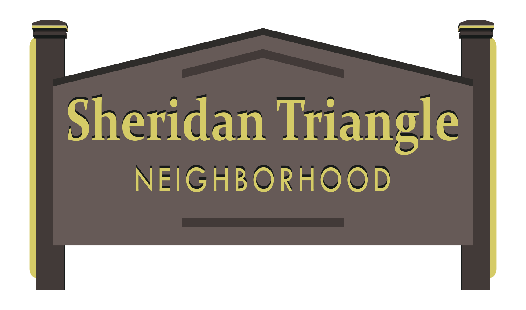 Sheridan Triangle Neighborhood sign