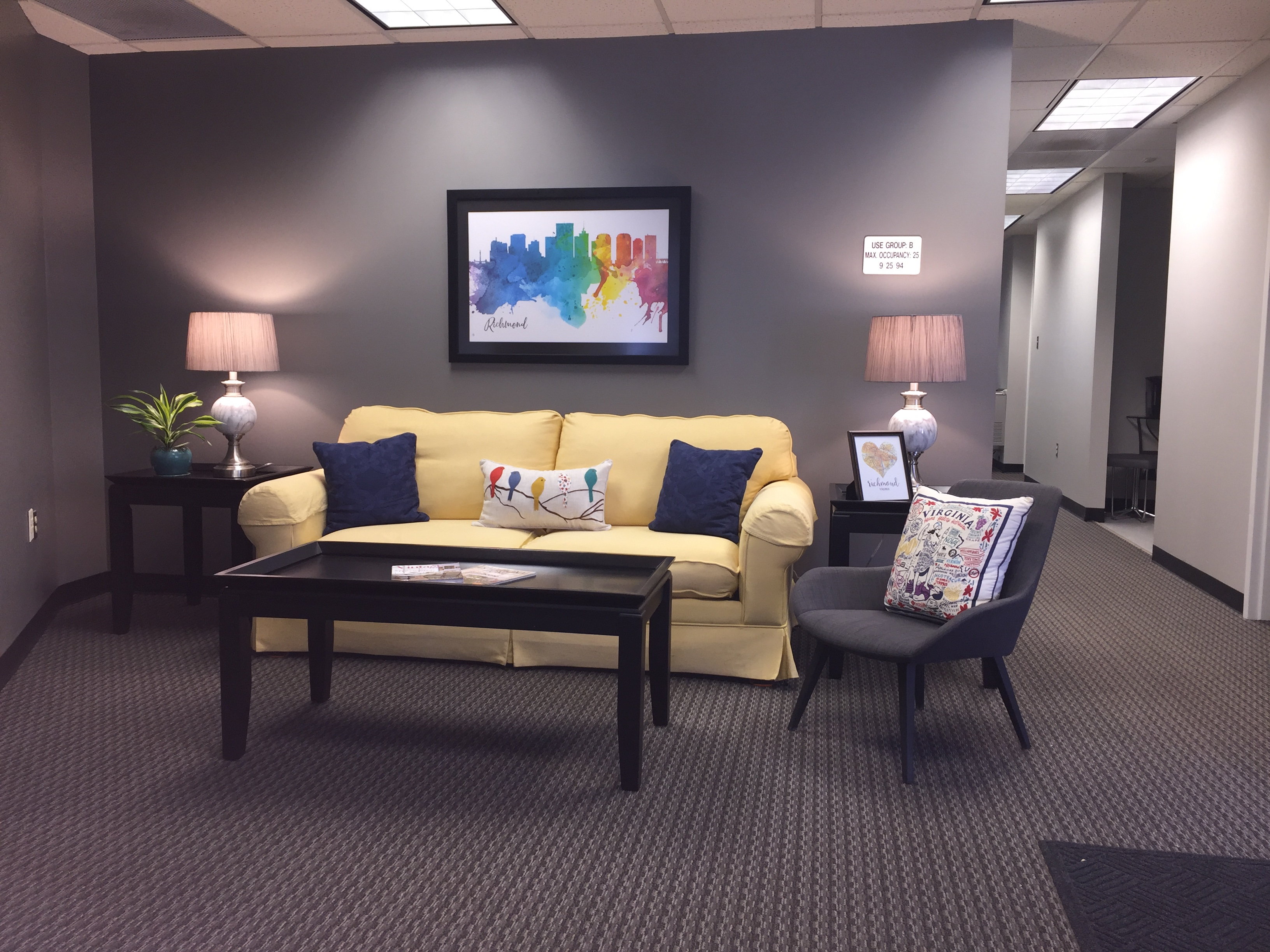 Reception area and hall at RVA Elite Realtors