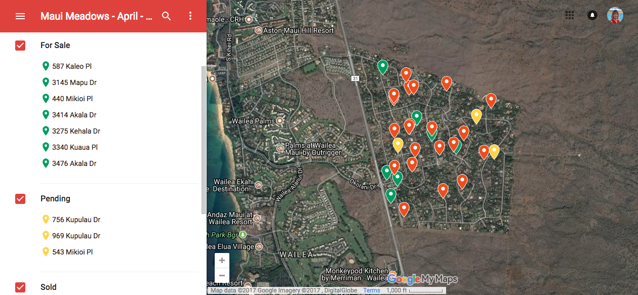 Miranda's Interactive Map of Maui Meadows