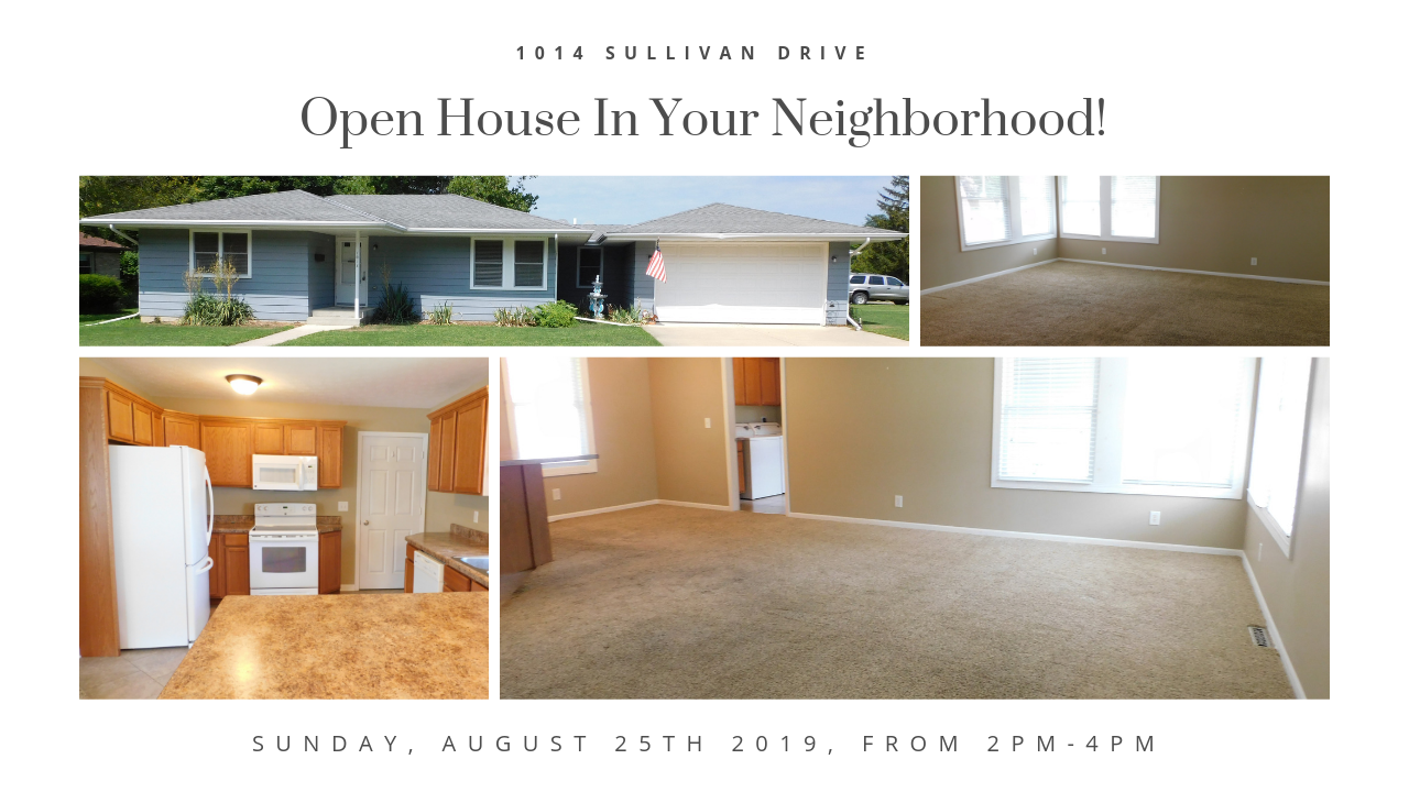 Open House: August 25th 2019