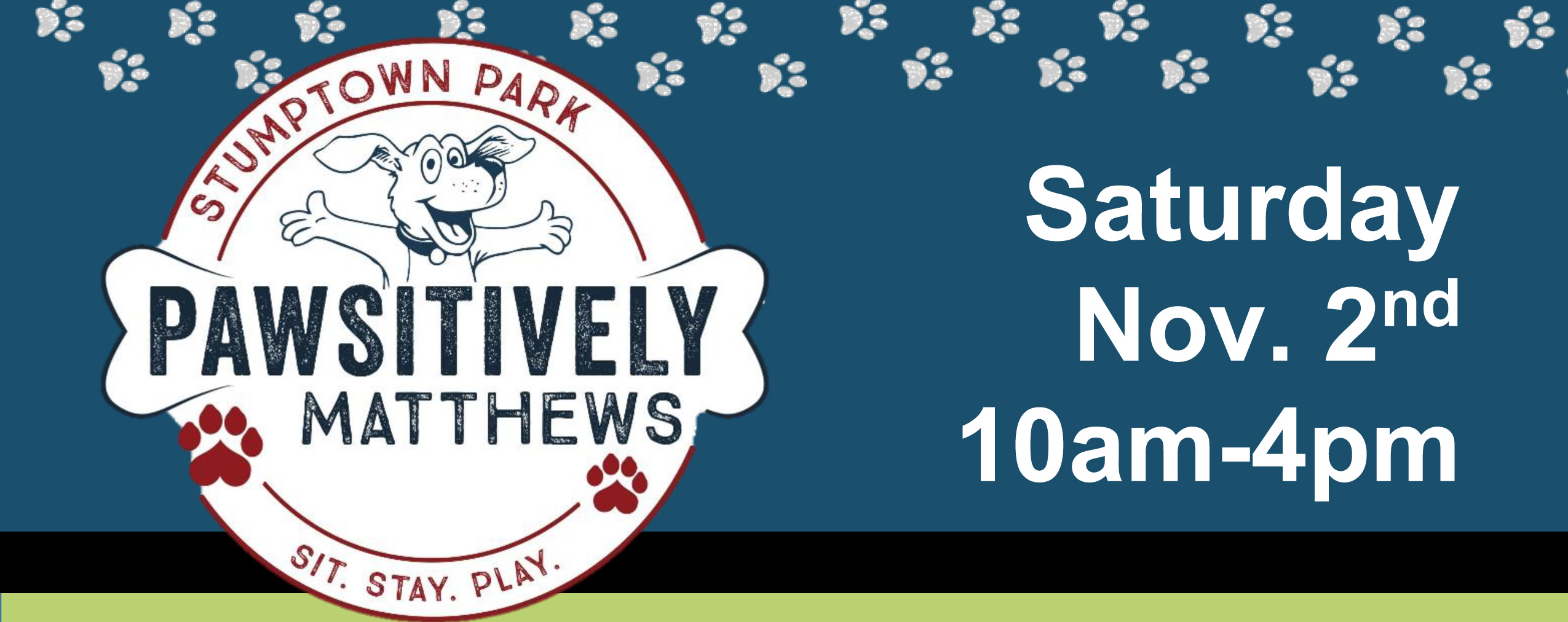It's almost time for our annual Pawsitively Matthews event!