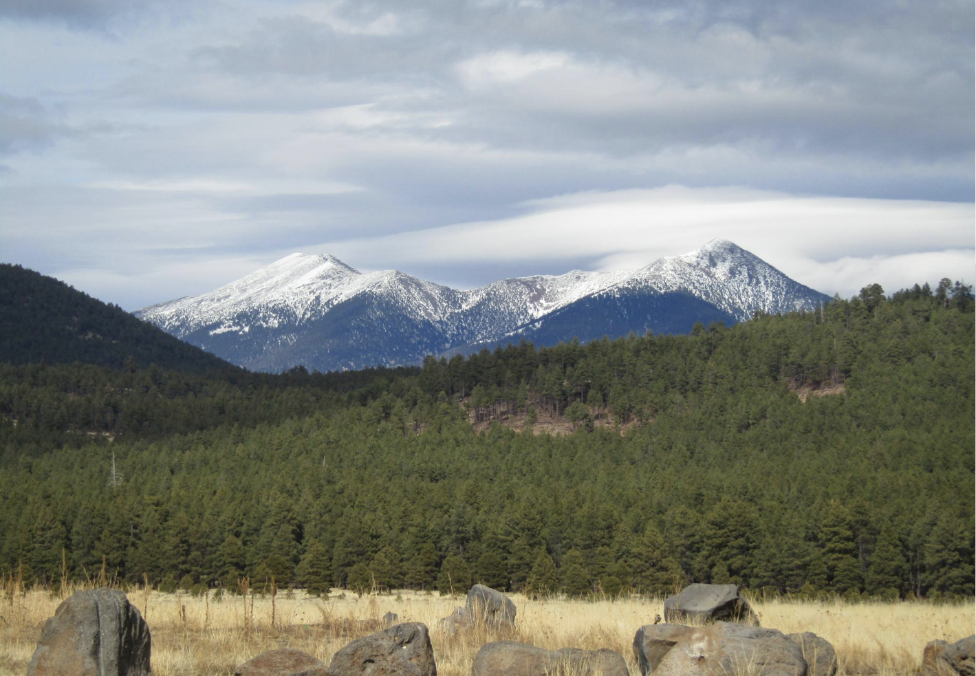 A View of the San Francisco Peaks from Flagstaff Meadows Homes in Flagstaff, AZ