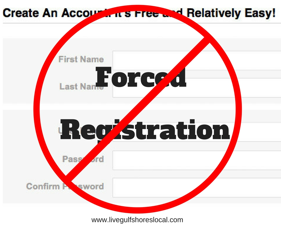 No Forced Registration Here