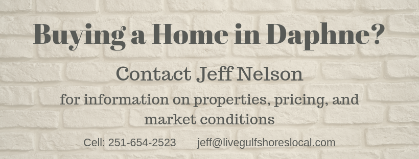 Buying in Daphne AL? Call Jeff Nelson