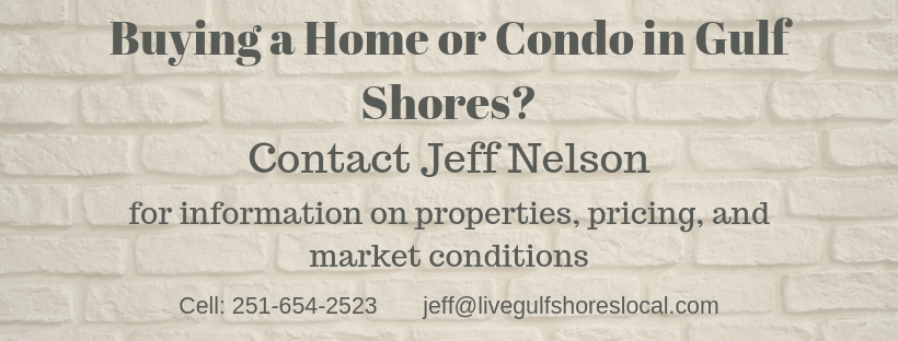 Buying in Gulf Shores? Contact Jeff Nelson