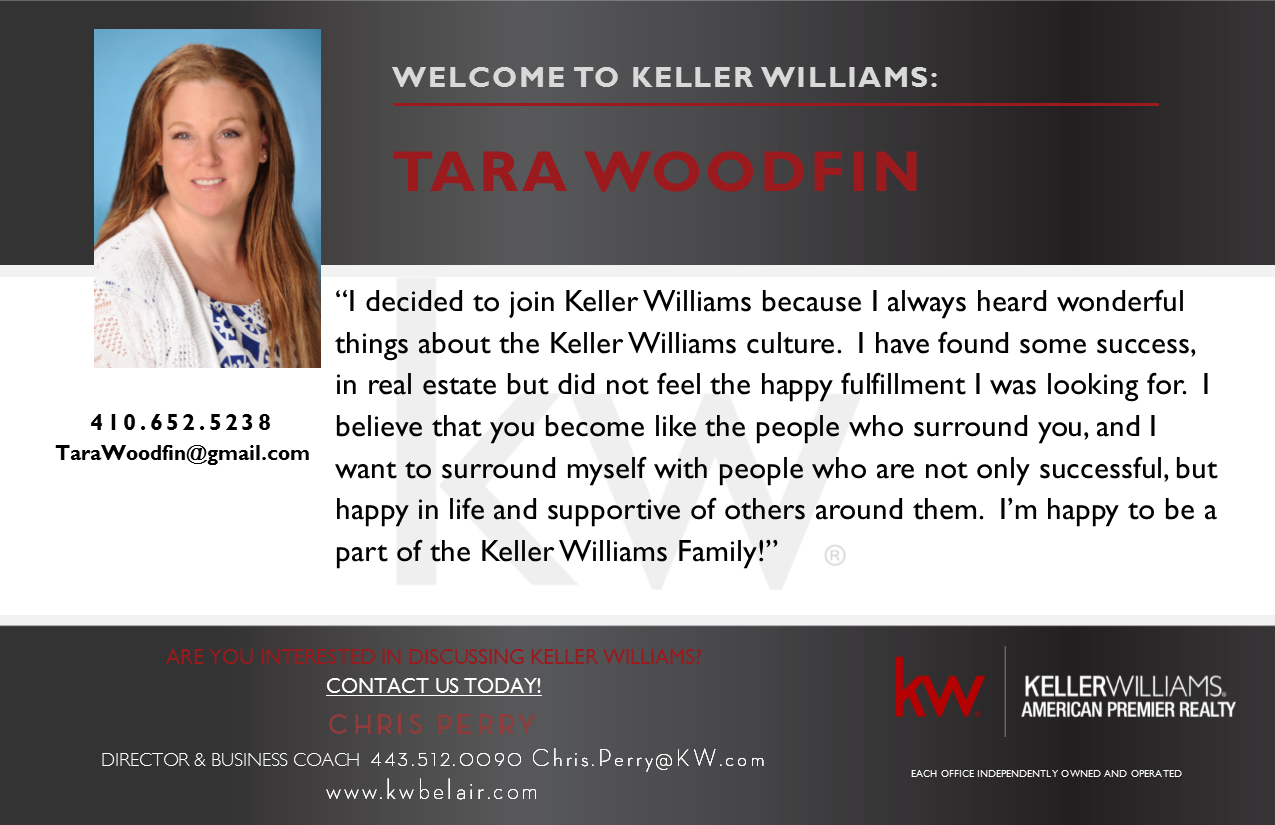Tara Woodfin Joins Keller Williams