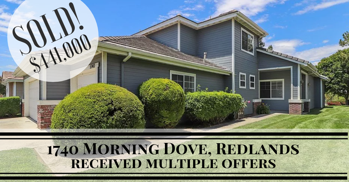 Just Sold | 1740 Morning Dove, Redlands