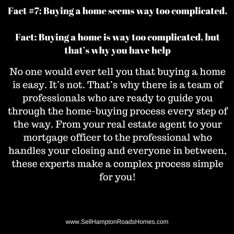 Fact #7: Buying a home seems way too complicated.