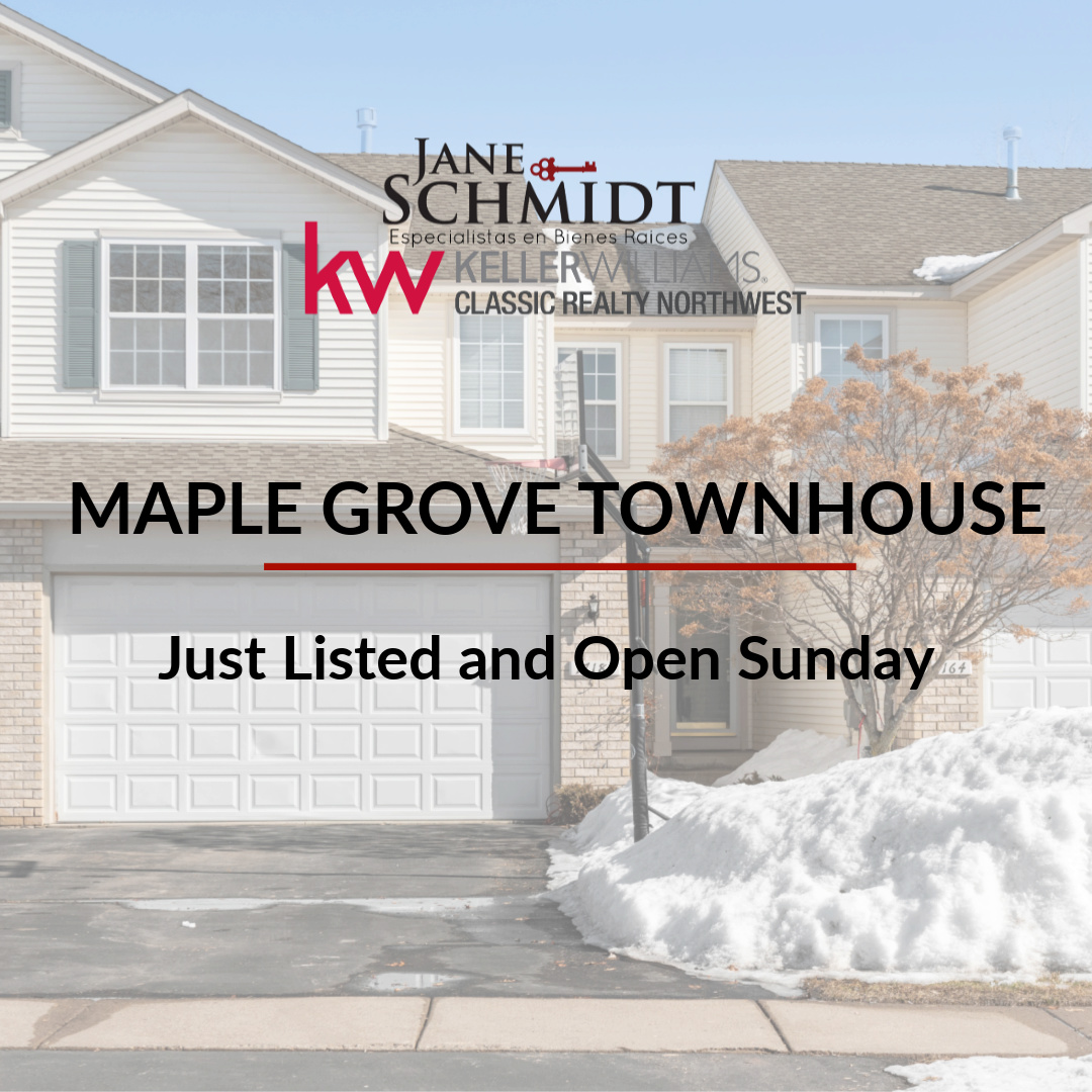 Just Listed: Maple Grove Townhouse