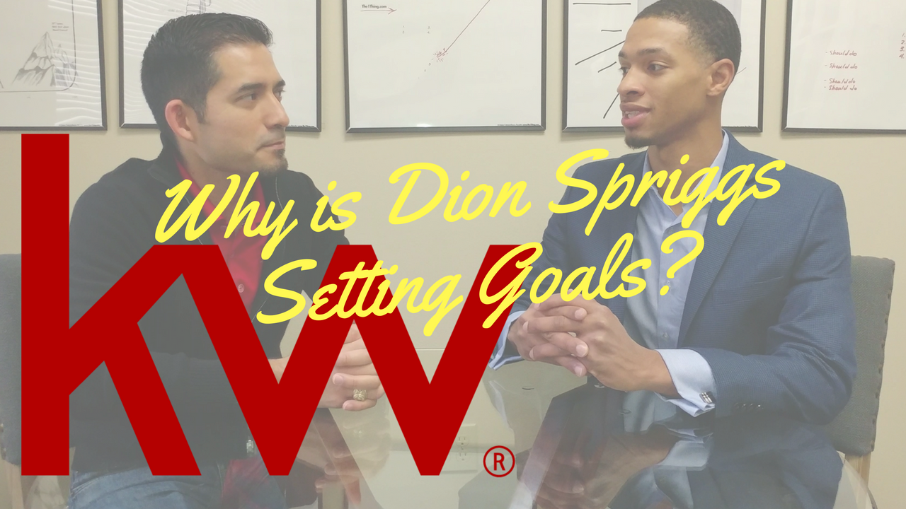 Why Set Goals? Dion Spriggs give his reasons.