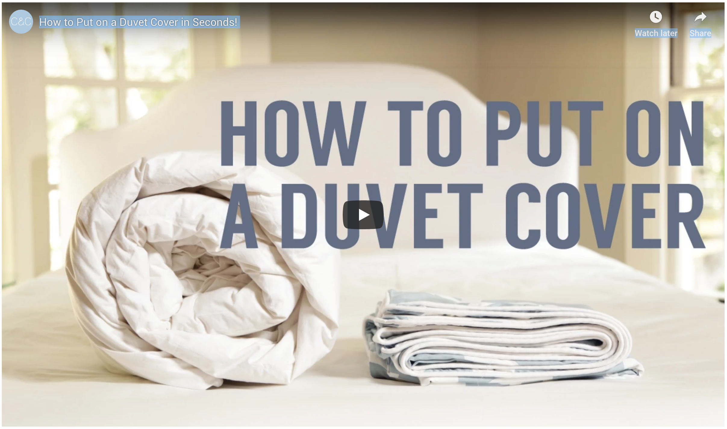 The Easiest Way to Put on a Duvet Cover