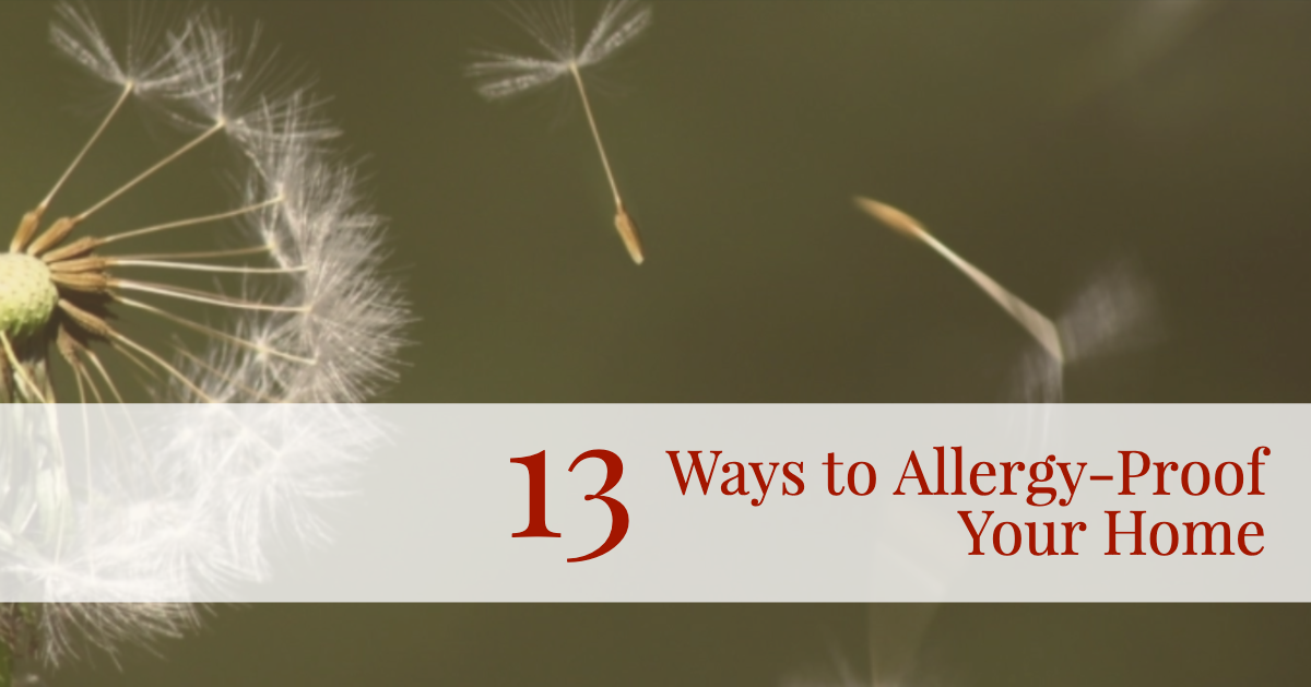 13 Ways to Allergy-Proof Your Home