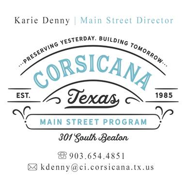 Downtown Corsicana Upcoming Events in March to April 2018