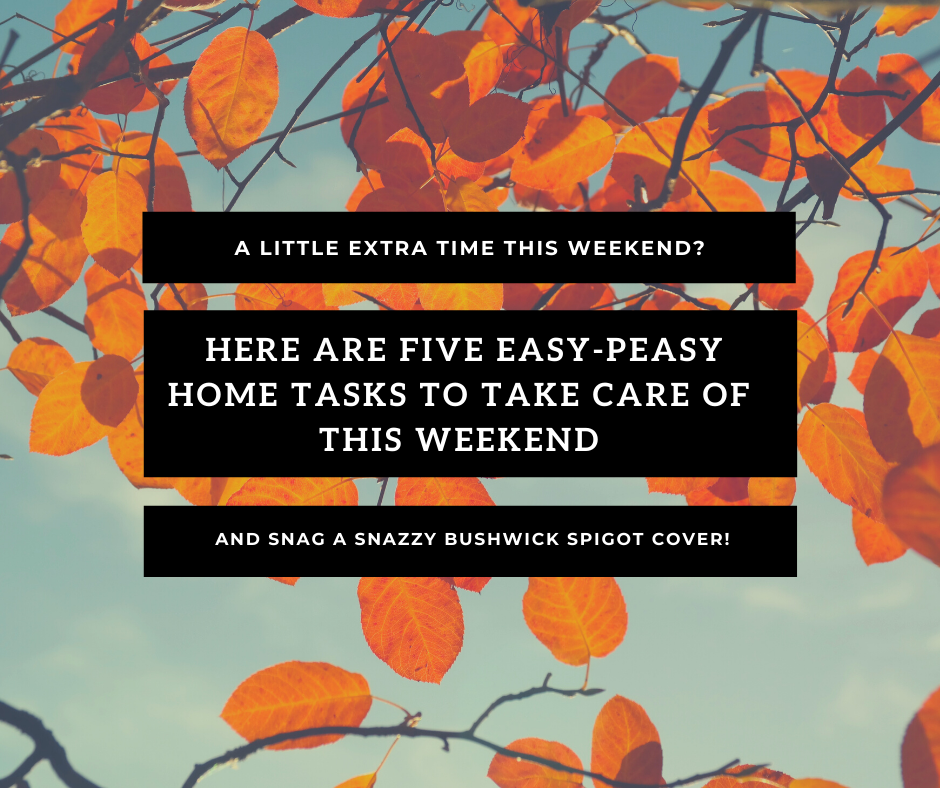 "A little extra time this weekend? Simple weekend tasks for your home before we ""fall back""."