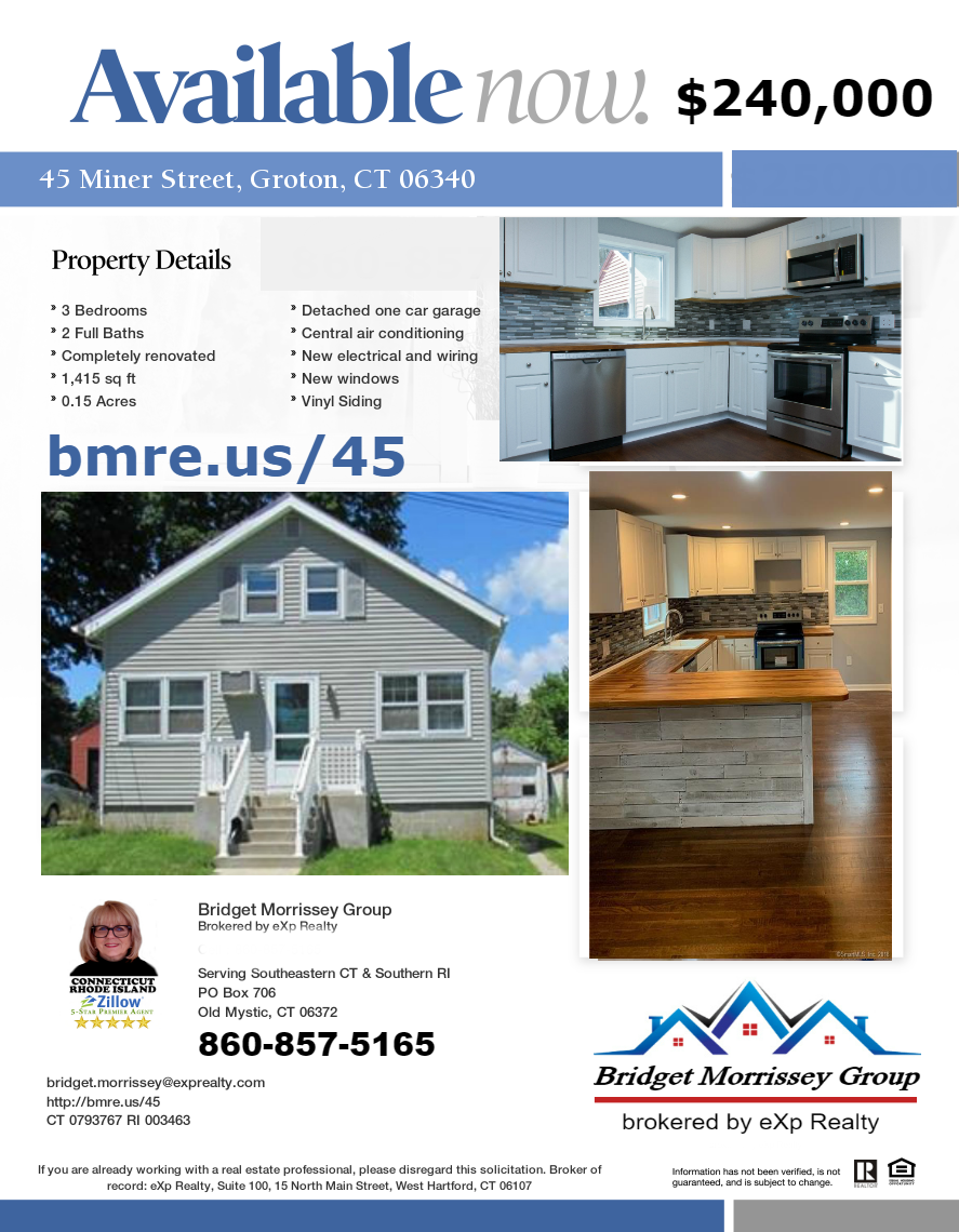Groton Home for sale at 45 Miner Street by Groton Realtor Bridget Morrissey