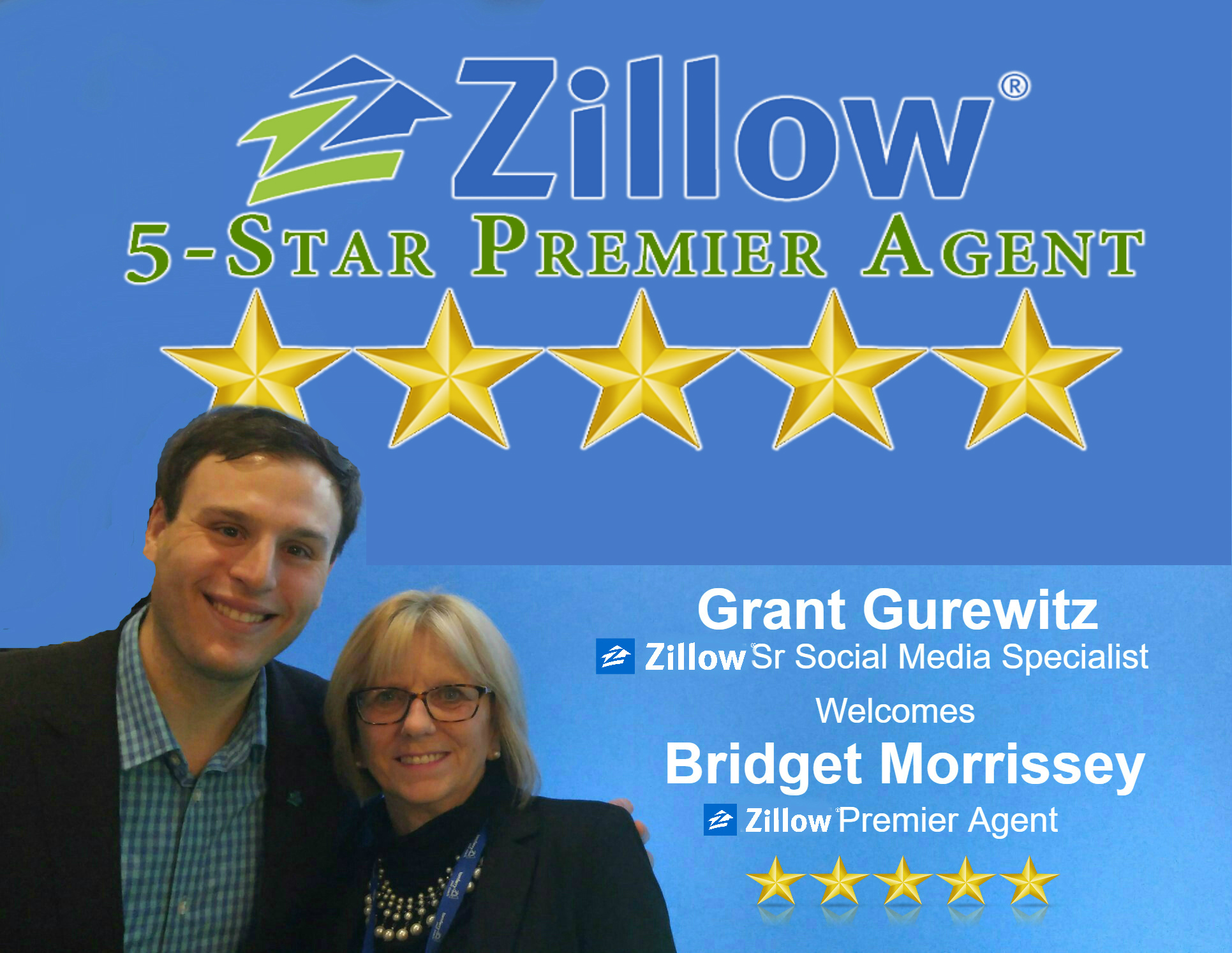 Zillow Five Star Professional Real Estate Agent