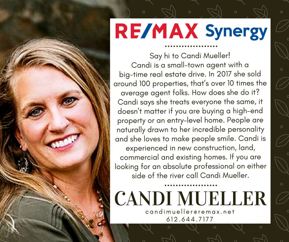 """Meet Candi Mueller"" as featured by RE/MAX Synergy"