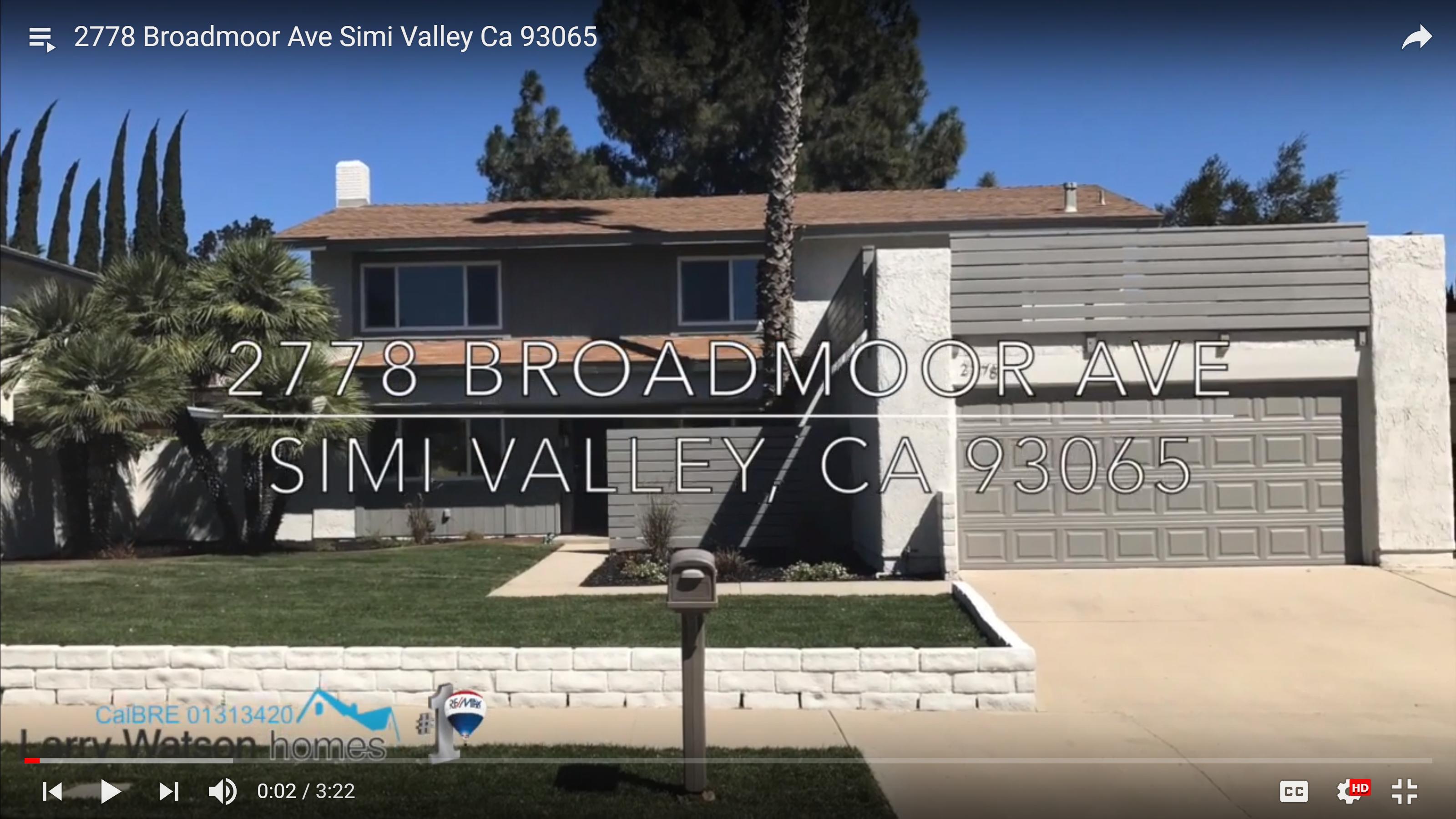 2778 Broadmoor Ave Simi Valley Ca 93065