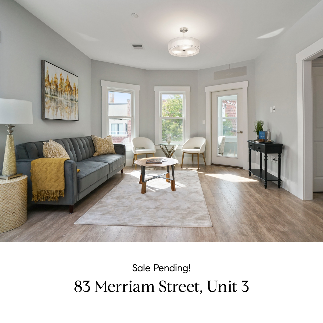 Sale Pending! 83 Merriam Street, Unit 3
