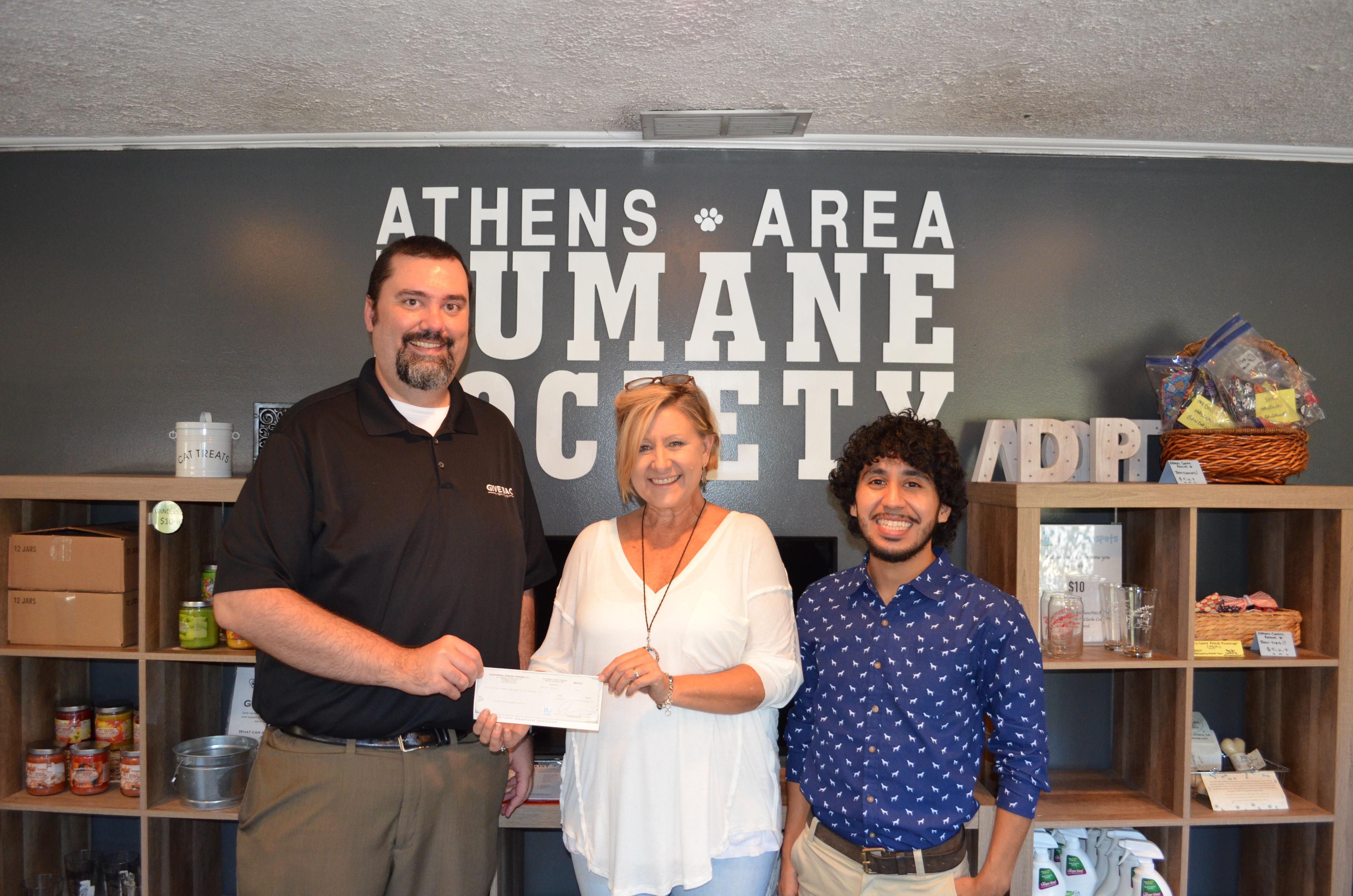 Levi visits Athens Area Humane Society