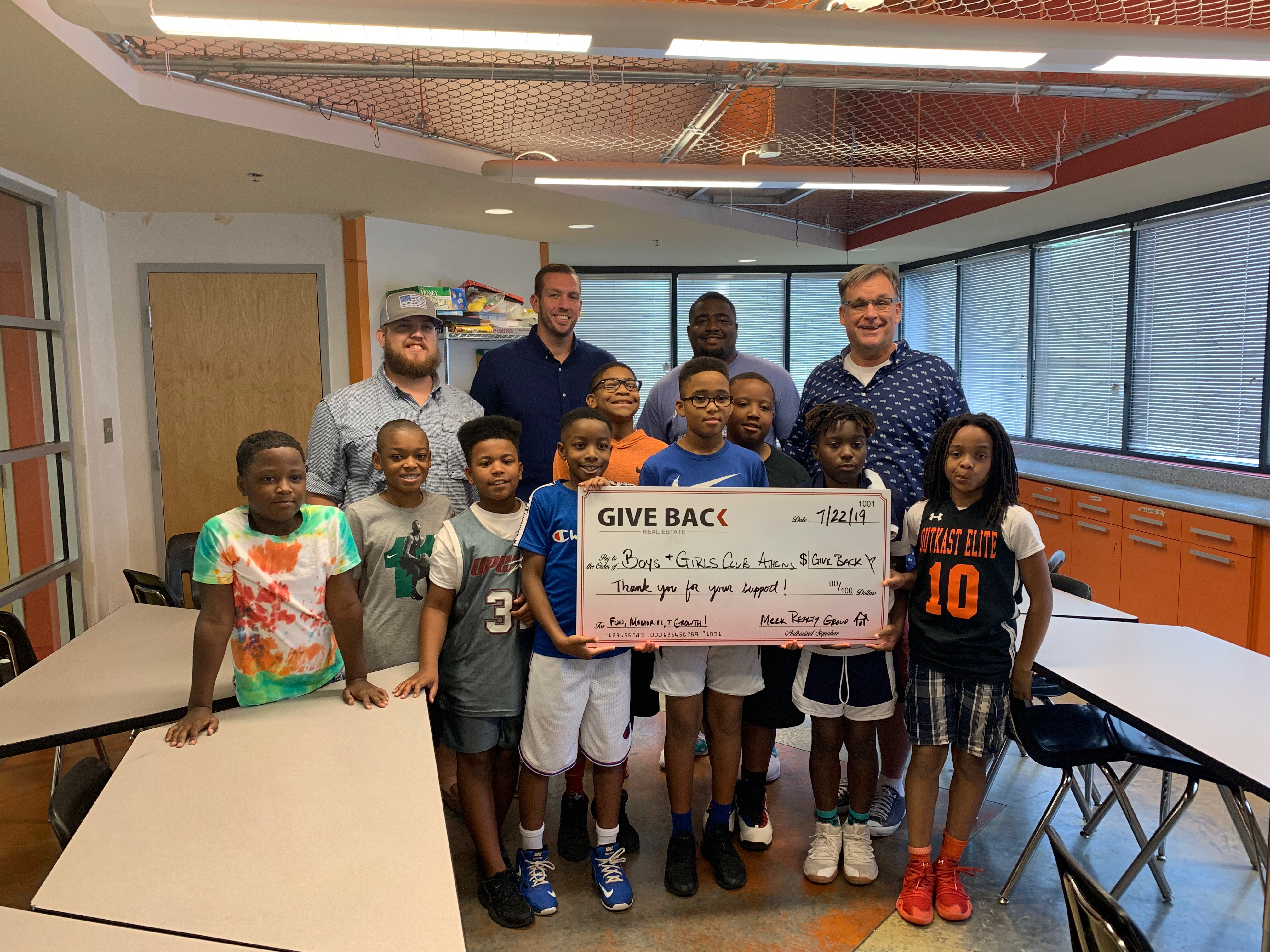 Tim Meek visits Boys and Girls Club of Athens