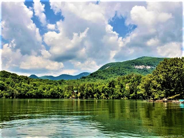 Lake Lure lakefront log cabin: 180 Ridge road