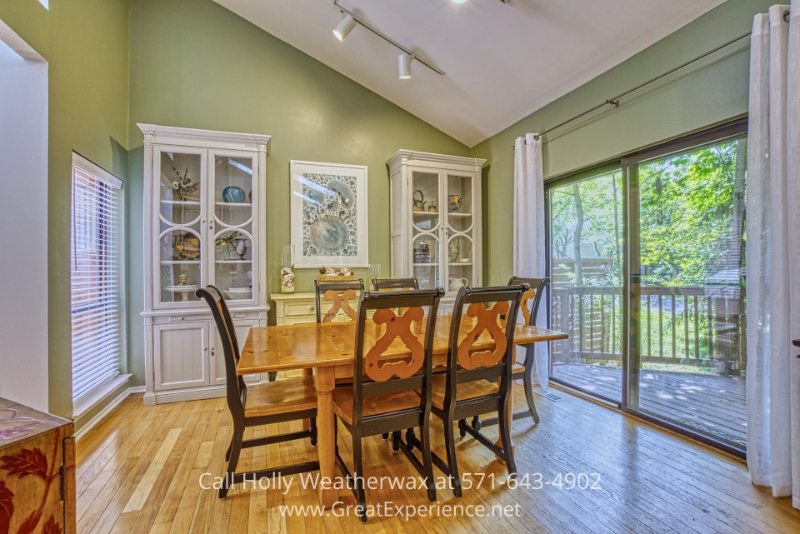Reston VA lakefront home- Enjoy amazing meals with loved ones in the bright dining space of this Reston VA home.