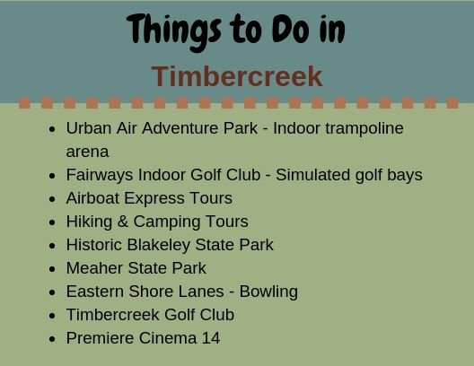 Timbercreek - Things to Do
