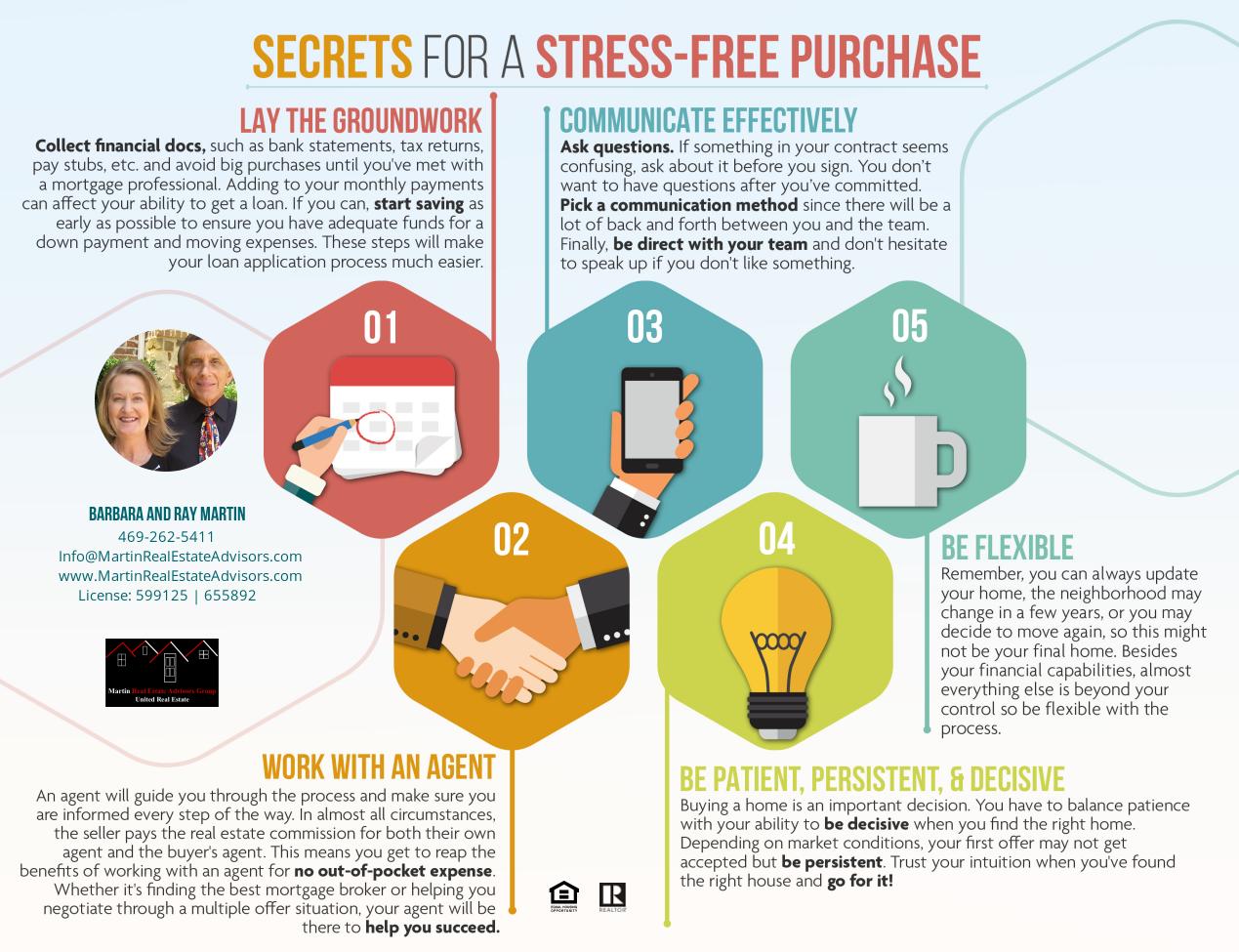 Secrets for a Stress-Free Transaction