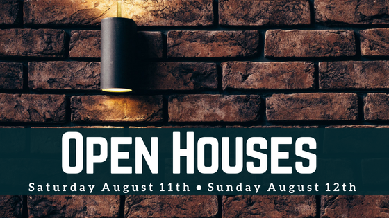 Boston Open Houses on August 11th and August 12th