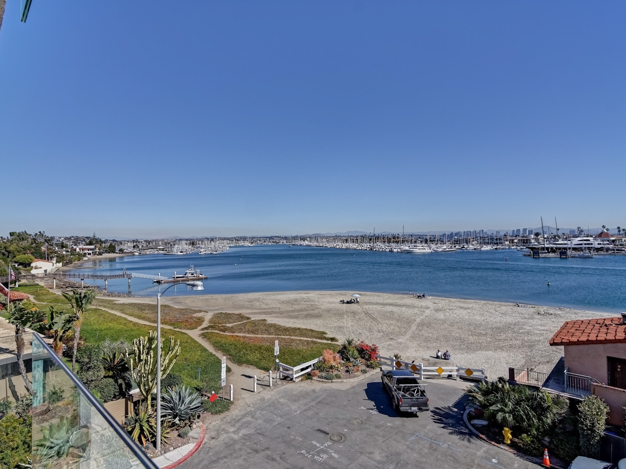 Unobstructed Harbor Views!  2-Bedroom Condo on Point Loma's Secret Kellogg Beach