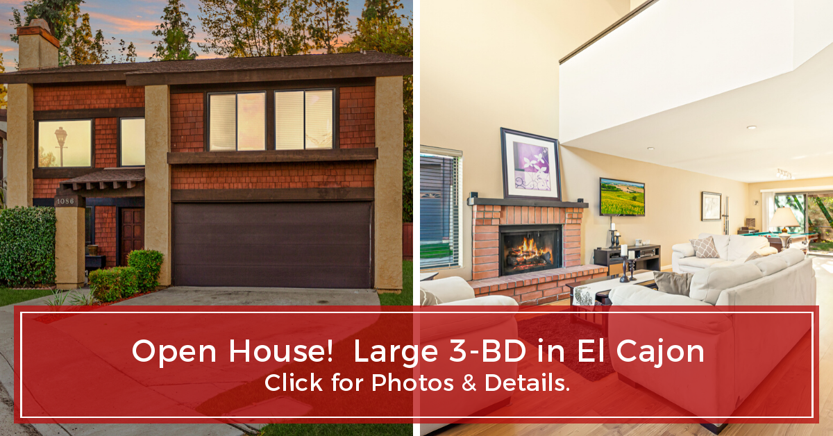 Just Listed - Executive-style 3-BD in El Cajon