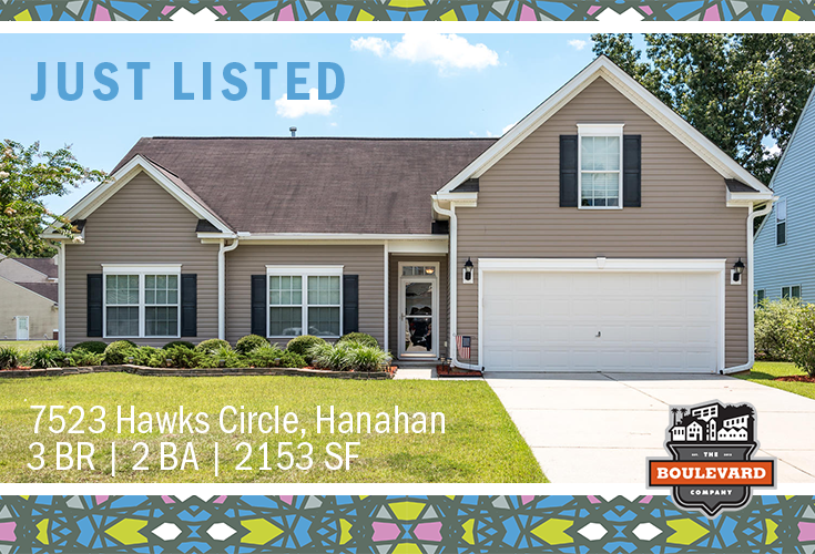 new listing: 7523 Hawks Circle in Hanahan, SC