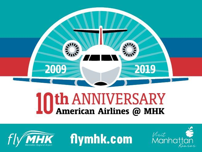 10 years, 10 chances to win: celebrate jet service at Manhattan Regional Airport